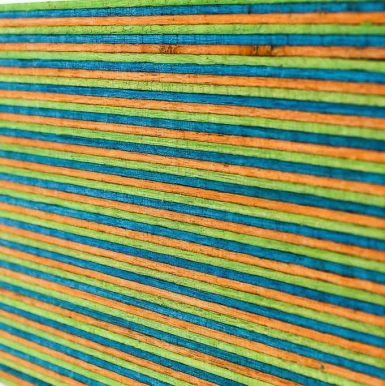 Colored SpectraPly Wood Blocks - Macaw color